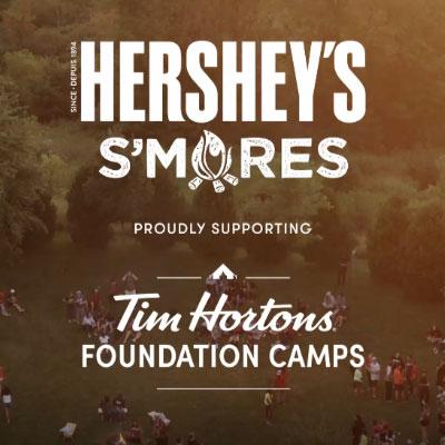 Hershey soutient Les camps tim hortons