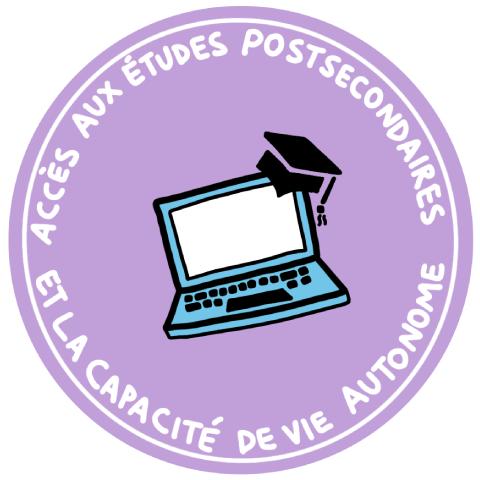 Icon du accés aux études postsecondaires et la capacité de vie autonome