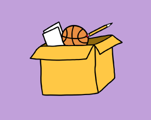 Camp-in-a-Box Package Illustration