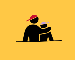 Counsellor Support Illustration 2 people embracing