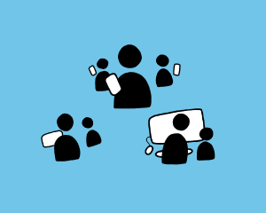 Online Community Illustration of groups of people