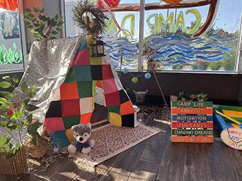 Child's Tent inside Tim Hortons Restaurant